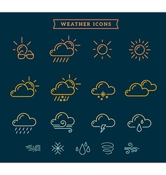 Rainbow gradient weather theme icon set o vector
