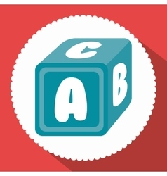 Alphabet cube isolated icon vector