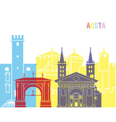 Aosta skyline pop vector