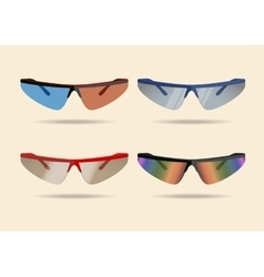 Bicycle sport sunglasses vector image vector image