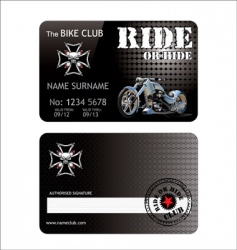 Biker club card vector