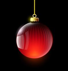 Christmas ball Stock vector image
