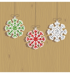 christmas snowflake decorations vector image vector image
