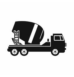 Concrete mixer truck icon simple style vector