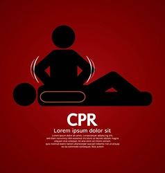 Cpr or cardiopulmonary resuscitation vector