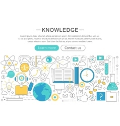 elegant thin line flat modern Knowledge vector image