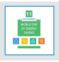 Energy efficiency saving resources vector