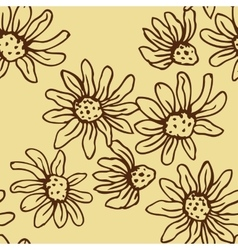 Flowers of camomile seamless vector