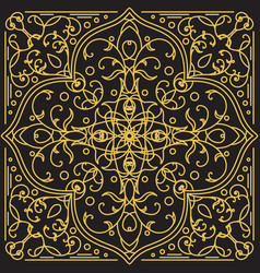geometric ornamental pattern vector image vector image