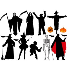 halloween vs vector image vector image