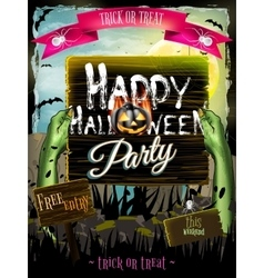 Invitation to zombie party EPS 10 vector image vector image