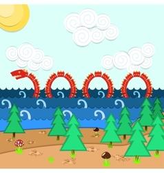 Loch Ness Monster vector image