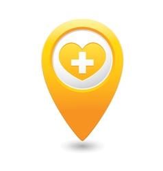 Medical icon yellow pointer vector