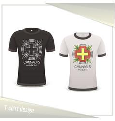Medical marijuana tshirt six vector