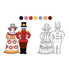russian folk clay toys vector image vector image