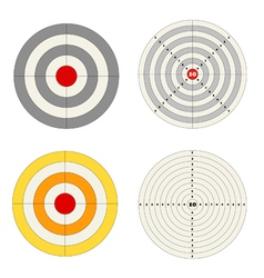 Targets set vector image vector image