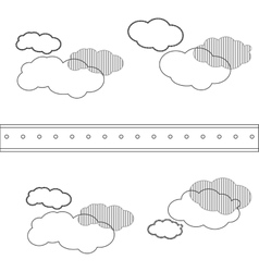 Cloud shape pattern icon vector