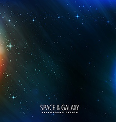 Galaxy and space background vector