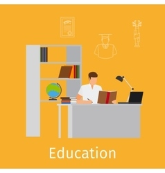Education concept with learning vector