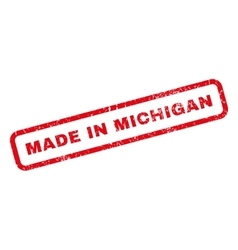 Made in michigan rubber stamp vector