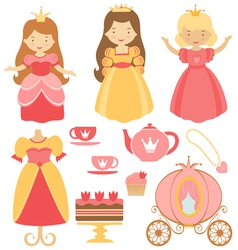 Princess party vector image
