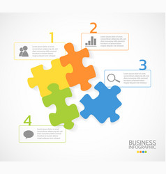 modern business infographic puzzle 4 options vector image