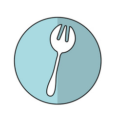 Fork kitchen cutlery isolated icon vector