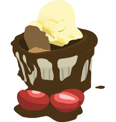 Chocolate mud cake vector