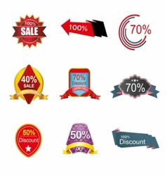 Discount label tag symbol vector