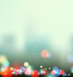 Evening city lights vector