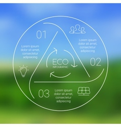 Circle eco infographic ecology template vector