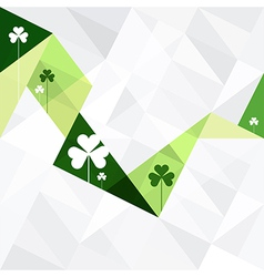 clover abstract card triangles vector image
