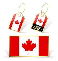 Canadian flag and tags vector