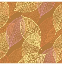 Seamless ornamental pattern with leaves vector