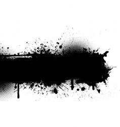 Ink splat grunge vector