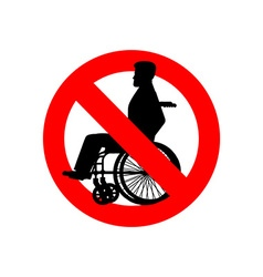 Stop disabled Prohibited person on wheelchair Ban vector image