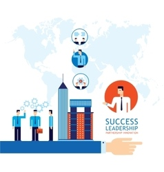 Partnership leadership teamwork success business vector