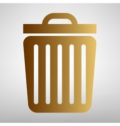 Trash sign flat style icon vector