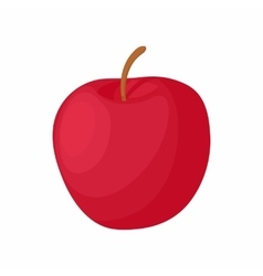 Red apple icon cartoon style vector