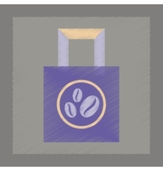 Flat shading style icon coffee package vector