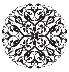 Oriental decorative element zentangle mandala vector