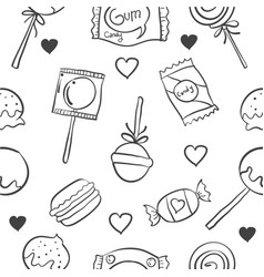 Art various candy doodle style vector