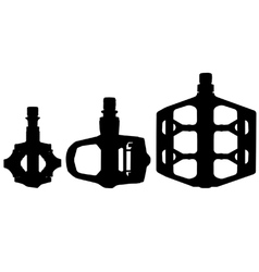 Bicycle pedal silhouettes vector