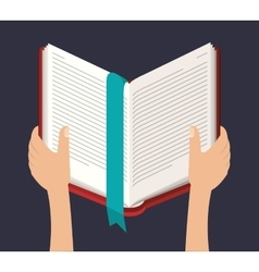 Book literature for reading design vector image vector image