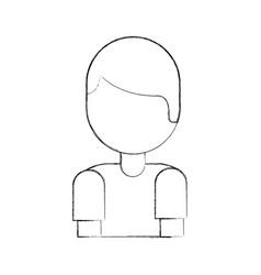 cartoon boy portrait male people vector image