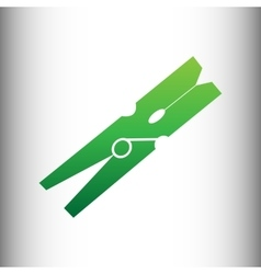 Clothes peg icon vector