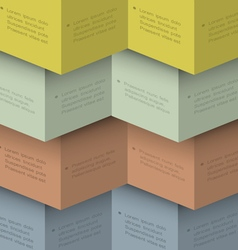Design template for infographics in origami style vector image