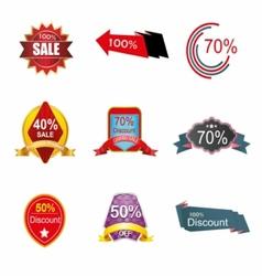 discount label tag symbol vector image vector image