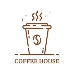 emblem concept coffee house vector image vector image