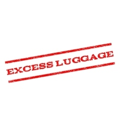 Excess luggage watermark stamp vector